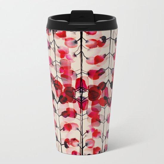 flower pattern 03 Metal Travel Mug
