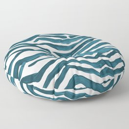 Zebra Print – Teal Palette Floor Pillow