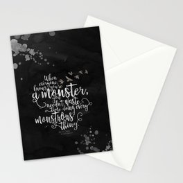 Six of Crows - Monster - Black Stationery Cards