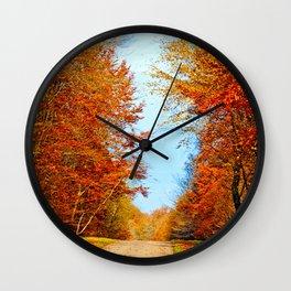Through the fall Wall Clock