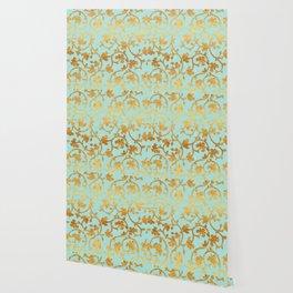 Golden Damask pattern Wallpaper