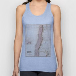 Vintage Map of Chile (1818) Unisex Tank Top