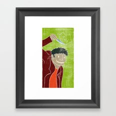 Hyde is in the air Framed Art Print