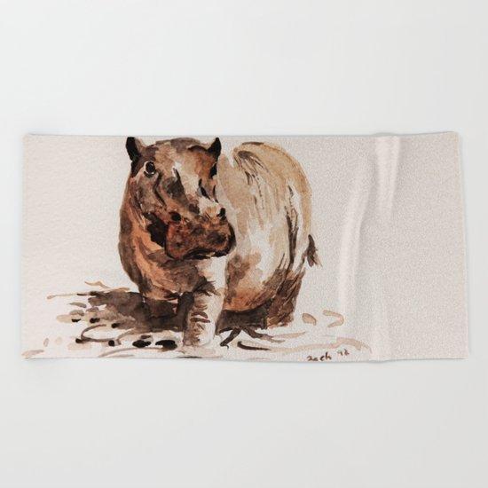 hippo Beach Towel