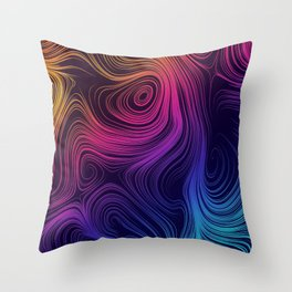 Mystic Swirls Throw Pillow