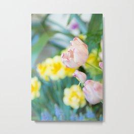 1 BLOOM, Portrait, Flower, Pink Plant, Calming decor, Wall art, Photo Art Print Metal Print