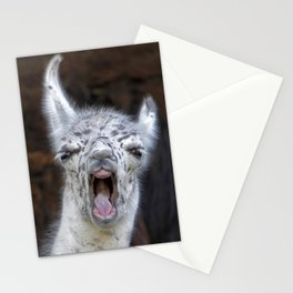 Young Lama with a big mouth | Junges Lama mit grosser Klappe Stationery Cards