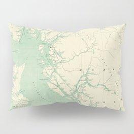 Vintage Map of British Columbia (1893) Pillow Sham