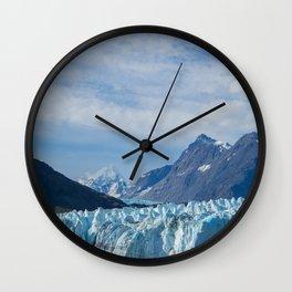 Glacier and Mountains in Alaska Wall Clock