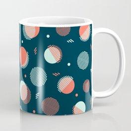 Navy Orbs Coffee Mug