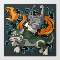 invader zim Canvas Prints featuring Invader Midna by HelloTwinsies