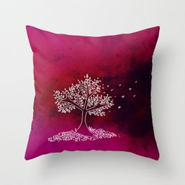 Wind On a Pink Day Throw Pillow