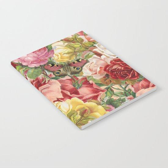 Vintage Retro flower pattern old fashioned Notebook