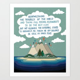 The acknowledgement Art Print