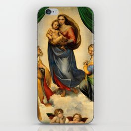 Sistine Madonna with Child and Angels Virgin Mary Religion Catholic Gift iPhone Skin