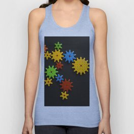 Colorful gears Unisex Tank Top