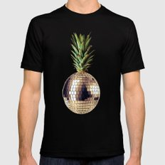ananas party (pineapple) X-LARGE Black Mens Fitted Tee