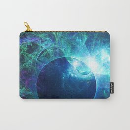 Abstract colorful shiny print graphic with planet space Carry-All Pouch