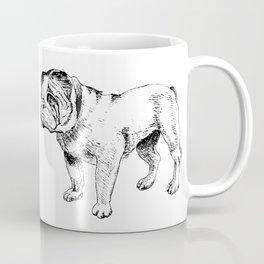 Bulldog Ink Drawing Coffee Mug