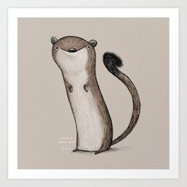 Weird Weasel Art Print