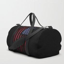United states flag Black ink Duffle Bag