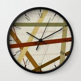 Earth Tone Criss Cross Wall Clock