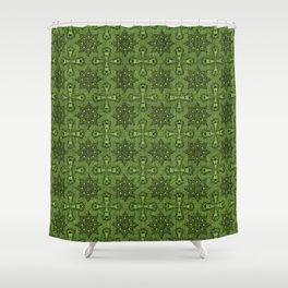 Greenery Star Flower Shower Curtain
