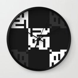 Greyscale Print Wall Clock