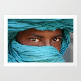 Tuareg eyes, Mali Art Print