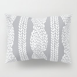 Cable Grey Pillow Sham