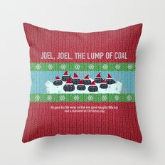 Lump of Coal / Christmas Sweater Throw Pillow