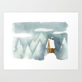 Winter in the Alpes Art Print