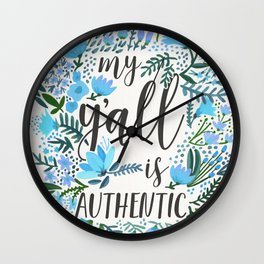 My Y'all is Authentic – Blue Palette Wall Clock