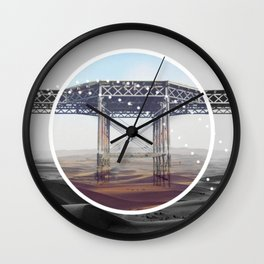 Surreal Bridge - circle graphic Wall Clock