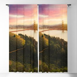 Golden Gate Bridge | San Francisco California Landscape Sunset Travel Photography Blackout Curtain