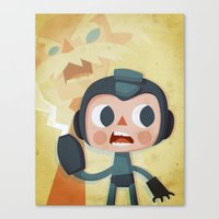 megaman Canvas Prints featuring Megaman by Peerro