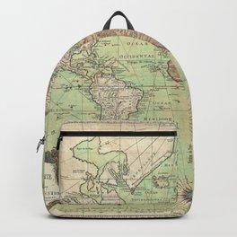 Vintage World Map Backpack