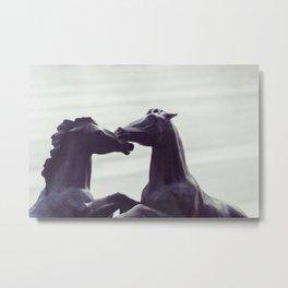 Bronze Horses - Sheridan, WY Metal Print