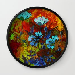 Hello blue poppies! Wall Clock
