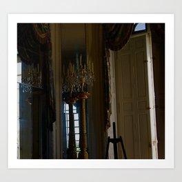 Chandelier in Versailles  Art Print