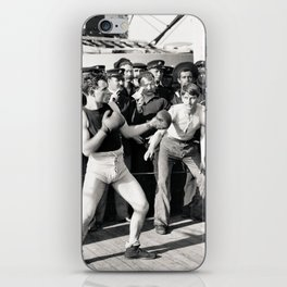 Boxing on a Naval Ship, 1899 iPhone Skin