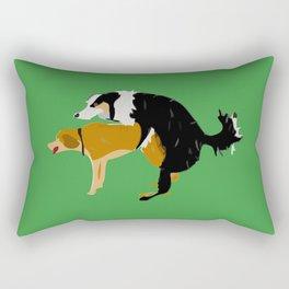 DOGS MATE SEX MAKE LOVE Rectangular Pillow