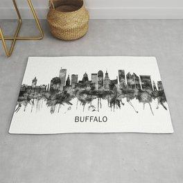 Buffalo New York Skyline BW Rug