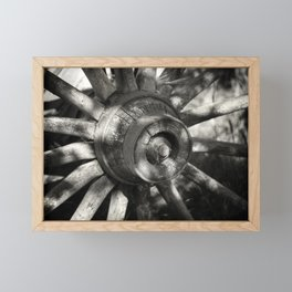 Wagon Wheel Hub Framed Mini Art Print