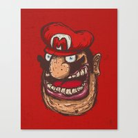 mario Canvas Prints featuring Mario by Lime
