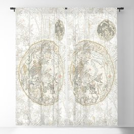 Star map of the Southern Starry Sky Blackout Curtain