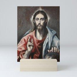 Christ Blessing by El Greco Mini Art Print