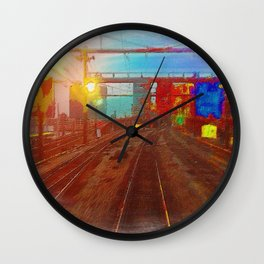 The Past Train 4 Wall Clock