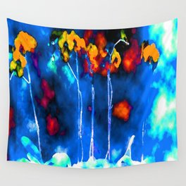 Blue Orange Still Life Wall Tapestry