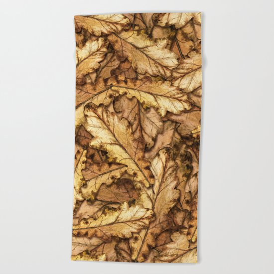 Autumn Leaves 01 Beach Towel